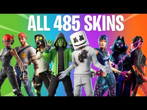 FORTNITE ALL SEASON SKINS (All Season 1 To 10 Skins)