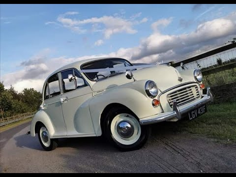 Stunning Morris Minor Wedding Car