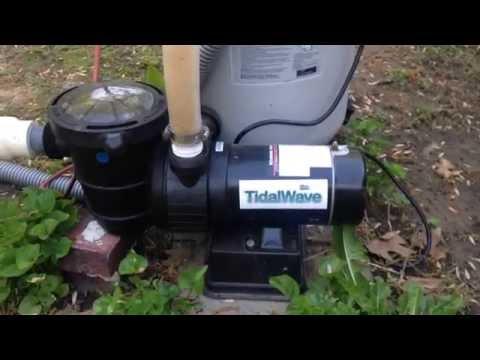 Blue Wave NE6171B Pool Filter Review - Demonstration