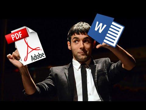 Convertir PDF a Word fácil