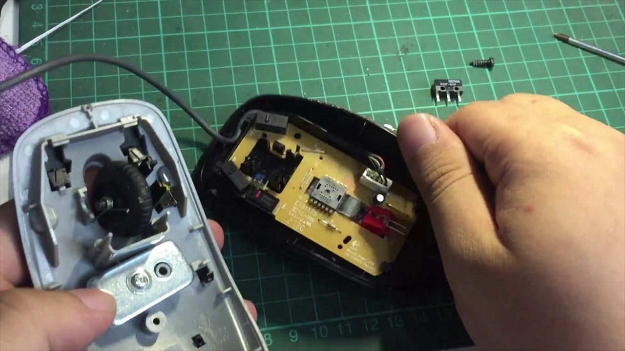 滑鼠連點維修 - YouTube
