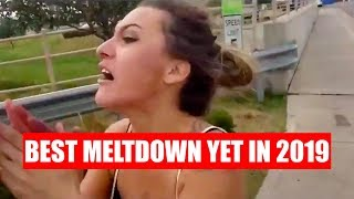 LADY HAS EPIC MELTDOWN AT ICE PROTEST