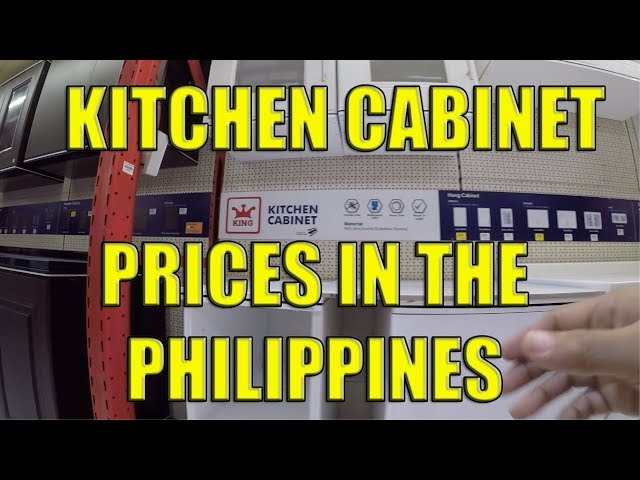 Kitchen Cabinet Prices In The Philippines Youtube
