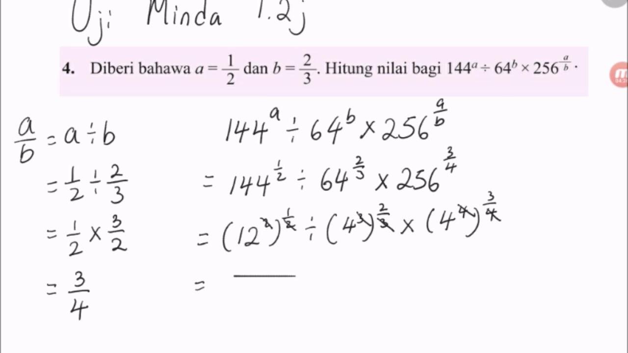 Soalan Matematik Tingkatan 1 Kunci Ujian