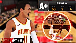 TRAE YOUNG AT THE REC CENTER!!! 😱❄ | 53 POINTS!!! | NBA 2K20