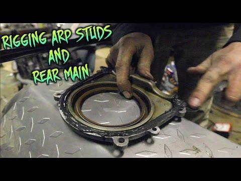 FULL SR20 TEARDOWN & REBUILD EP.7 | RIGGING ARP STUDS & REAR MAIN SEAL