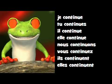 Conjugaison Musicale Indicatif Present Verbe Continuer Youtube