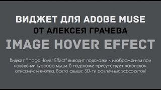 Эффекты при наведении на картинку. Виджет Image Hover Effect для Adobe Muse
