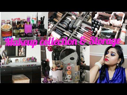 My Makeup Collection & Storage 2018 | Makeup Storage Ideas | Indian Mom Studio