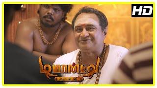 Demonte Colony movie scenes | M S Baskar predicts future | Arulnithi finds M S Baskar deceased
