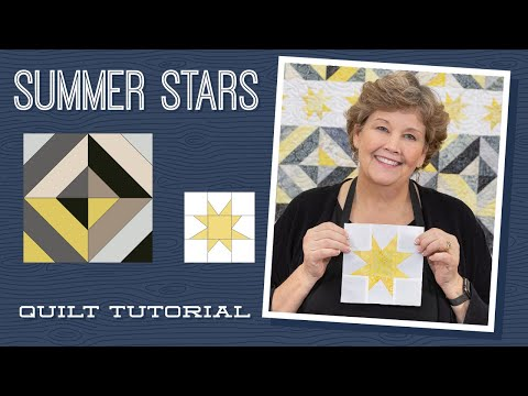 """Make a """"Summer Stars"""" Picnic Quilt with Jenny Doan of Missouri Star (Video Tutorial)"""