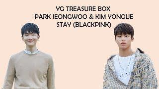 YG Treasure Box Park Jeongwoo | Kim Yeongue - Stay (Blackpink) Lyrics