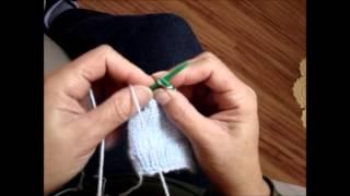 Meia infantil de tricô