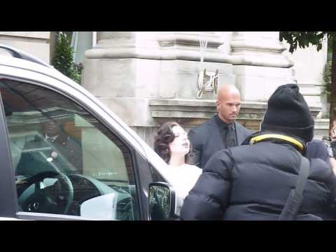 Lady Gaga crying as she leaves her London hotel. (1st November 2013)