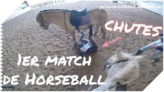 [Horseball GoPro] 1er match CHUTES♥ Queen fait la course avec Quador!