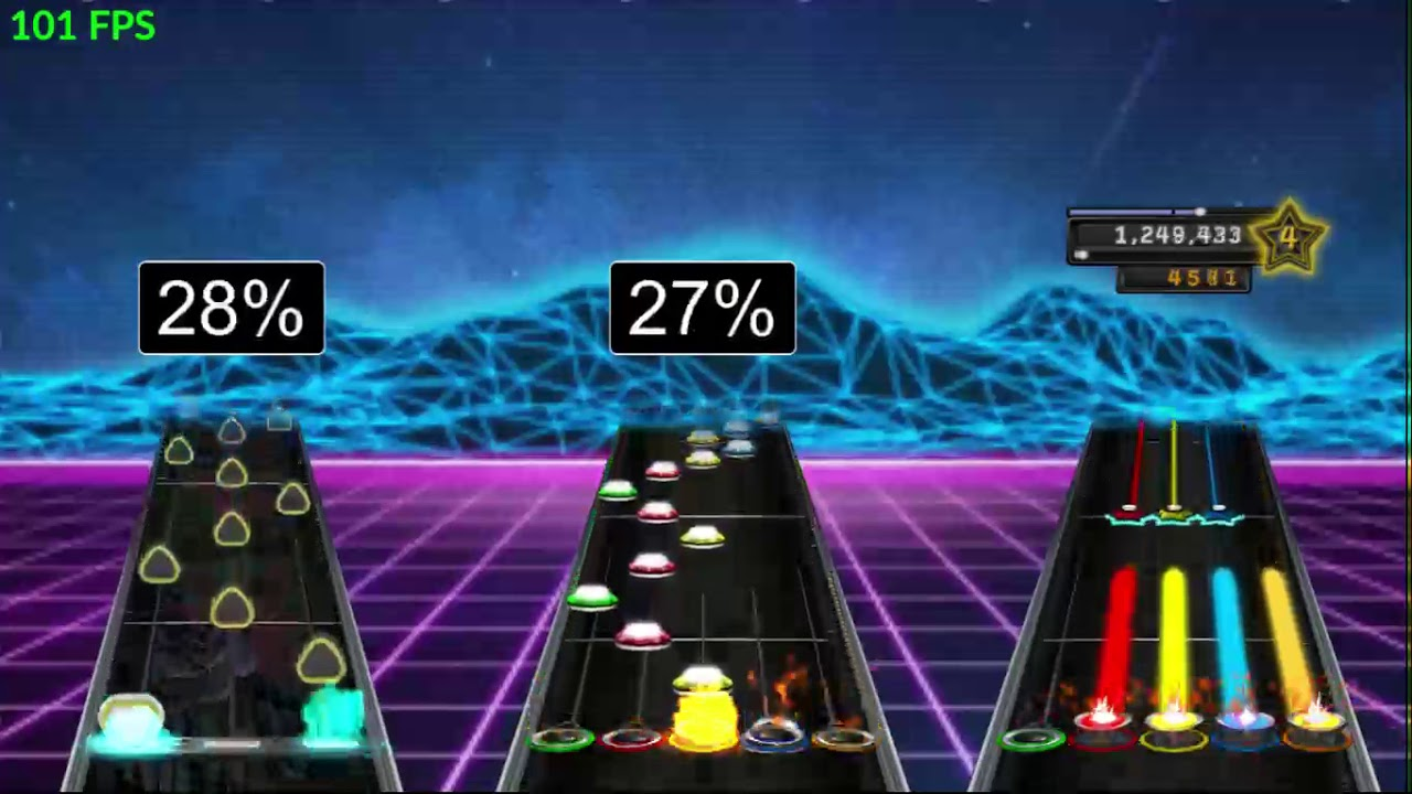 through the fire and flames Clone Hero Live (Rock Band Version) BOT