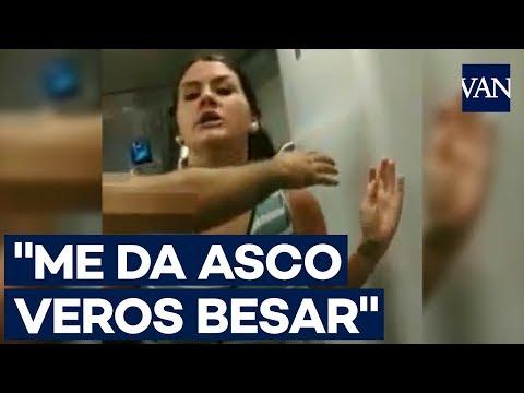 Samuel Ramirez El Capi - Beso entre mujeres enfurece a señora homofóbica; me da asco verlas
