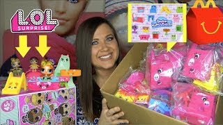 2018 Shopkins Happy Places season 3 Happy Meal Toys Fake LOL surprise dolls Confetti pop Big sisters