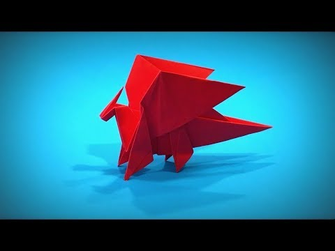 How to Make a Paper Dragon DIY - Easy Origami Step by Step ver. 3