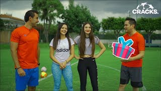 RETO de los REGALOS   ¡A LA CANCHA! Con Marifer, Leslie, Manu y Fernando