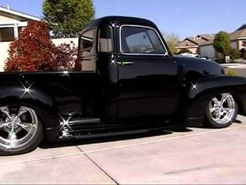 Andre S 1951 Chevy 5 Window Stepside At Idle Youtube