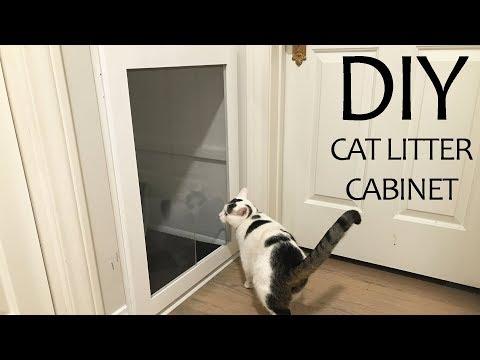 DIY Cat Litter Cabinet