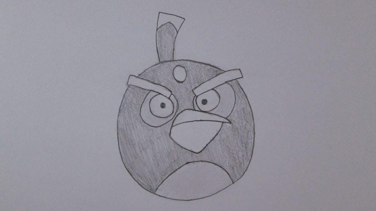 Como Desenhar O Bomb Bird De Angry Birds Youtube