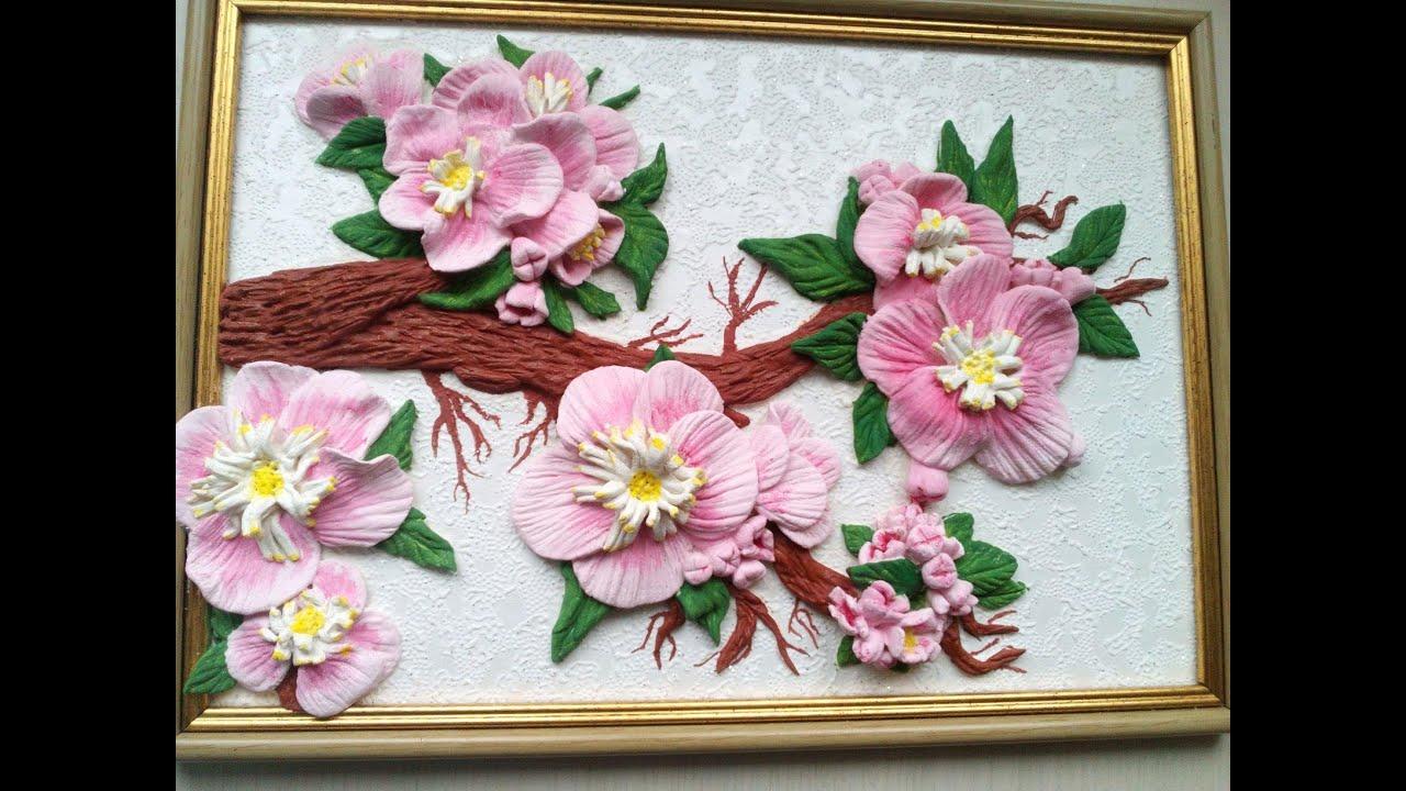 Цветы из солёного теста фото