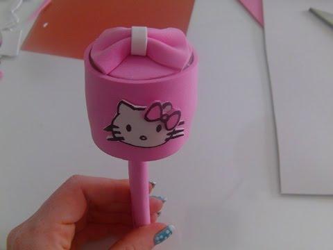 Como hacer un sonajero reciclado de la hello kitty   youtube