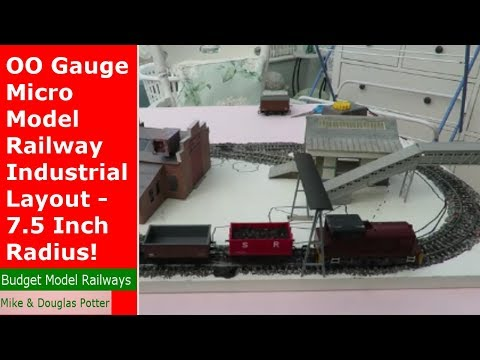 OO Gauge Micro Model Railway Industrial Layout – 7.5 Inch Radius!