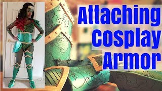 Cosplay Tutorial| How I Attached My Foam Armor