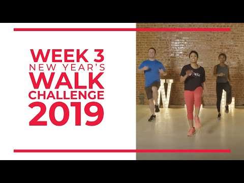 New Year's Walk Challenge 2019 Week 3 | Walk at Home