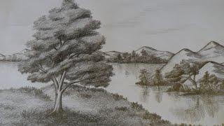 Dibujo de PAISAJE NATURAL ó REALISTA (DE LA IMAGINACIÓN AL PAPEL), A LÁPIZ.