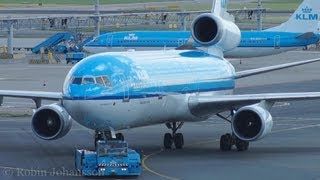 KLM McDonnell Douglas MD-11 Pushback and Start up @ Amsterdam Schipol Airport