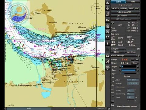 KETERANGAN DISPLAY ECDIS TRANSAS 4000 BINASENA