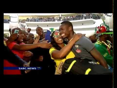 Bafana arrive back from AFCON 2015