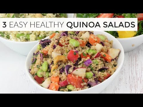 3 MORE Easy Healthy Quinoa Salads
