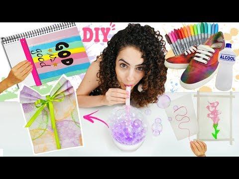 DIY DIA DAS CRIANÇAS: 🎨TÉCNICAS de PINTURA DIVERTIDAS + caderno, tênis, saco de presente, ...