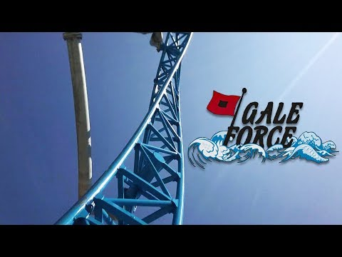 GaleForce HD Front Seat On Ride POV & Review, S&S Launched El Loco Coaster, Playland's Castaway Cove