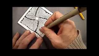 Biscus tangle Lesson #5 how to draw By Melinda Barlow CZT