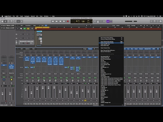 Logic Pro X Ch strip copy/paste