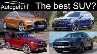 Mercedes GLE vs BMW X5 vs Audi Q8 vs Porsche Cayenne Best SUV comparison review - Autogefühl