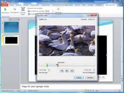 recorte de audio y video en power point