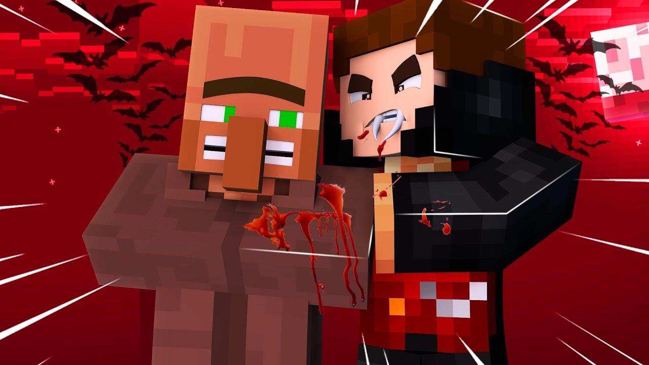 VAMPİR OLUP BÜTÜN KÖYE SALDIRDIM! 😱 - Minecraft
