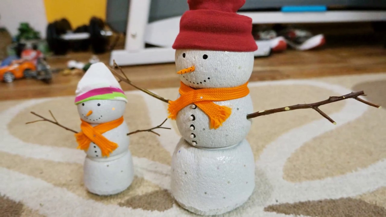 Бумажный снеговик своими руками фото 145
