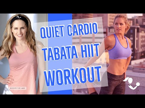 25 Minute Quiet Cardio Tabata HIIT: Low Impact HIIT No Equipment At Home Workout for Cardio & Toning
