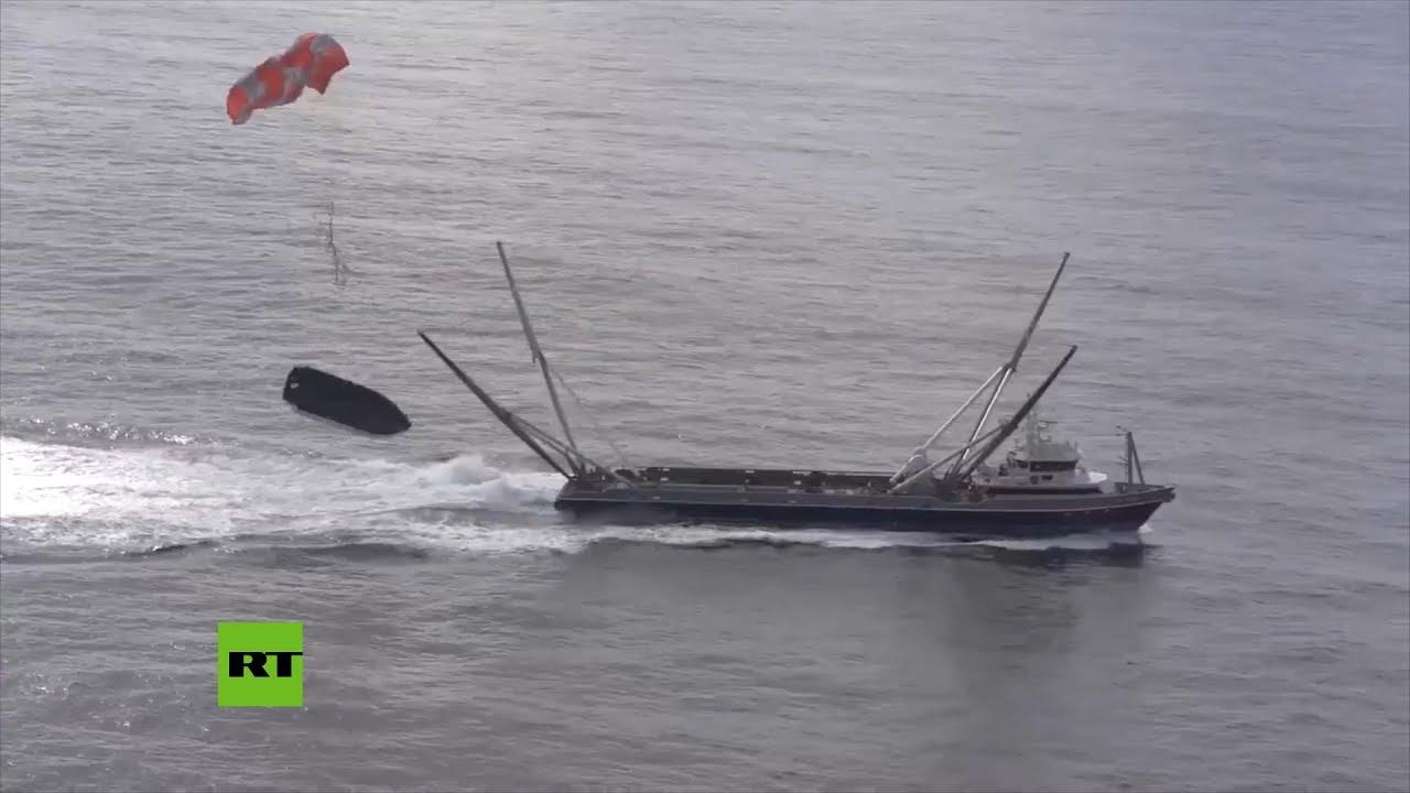 Nuevo 'fail' de SpaceX al intentar atrapar un carenado con una 'telaraña gigante&#039