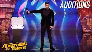 Lioz Shem Tov The Mentalist Leaves Us In Stitches | Auditions | Australia's Got Talent 2019