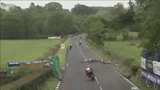 2014 Ulster Grand Prix Supersport Crash - Dean Harrison, Dan Kneen, Keith Amor