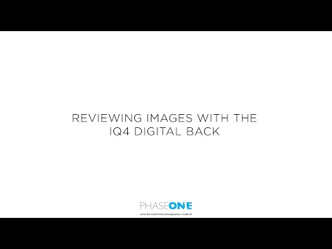 Support | Reviewing images in the IQ4 Digital back | Phase One